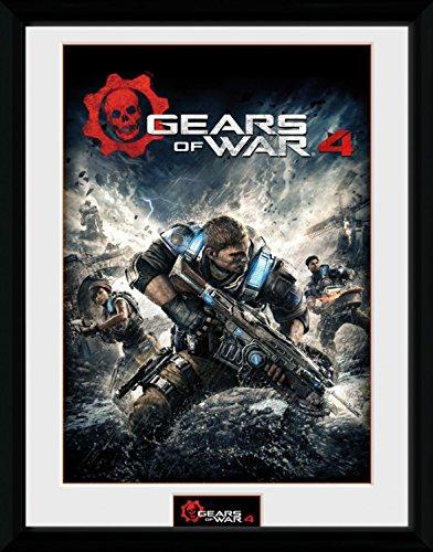 Gears Of War - 4, Game Cover Poster Da Collezione Incorniciato (40 x 30cm)