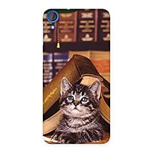 Cute Cat Book Back Case Cover for HTC Desire 820s