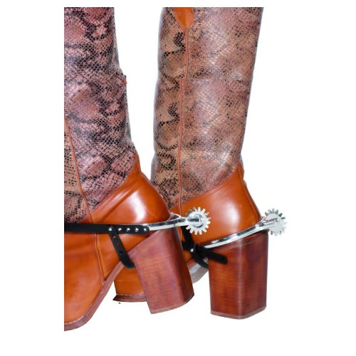 Smiffy's Men's Spurs with Straps, Silver, One Size - 1