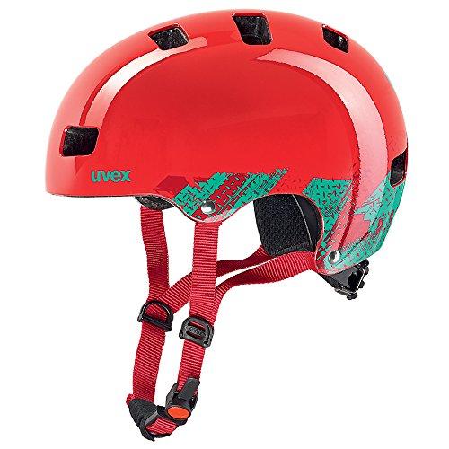 Uvex, Casco da ciclismo Bambini Dirtbike Skate, Rosso (Blackout Red), 51-55 cm