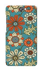 KnapCase Floral Designer 3D Printed Case Cover For HTC One A9