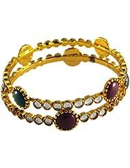 Designer Antique Gold Plated Bangle For Women - B01JVVBYWQ