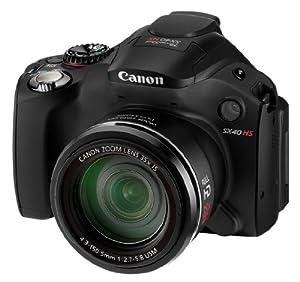 "Canon Powershot SX40 HS - Cámara compacta de 12 Mp (pantalla de 2.7"", zoom óptico 35x, estabilizador de imagen óptico, vídeo Full HD 1080p) color negro [importado]"