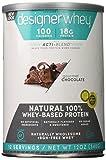 Designer Protein 100% Premium Whey Protein Powder, Gourmet Chocolate, 12-Ounce (Pack of 2)