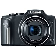 Canon PowerShot SX170 IS 16 MP Digital Camera - Black