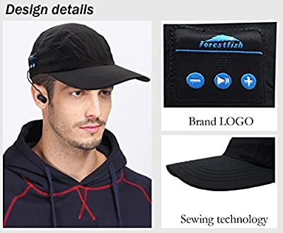 Forestfish(TM) Wireless Bluetooth Adjustable Twill Profile Baseball Cap with Earbuds Headphone Headset Phone Answer MP3 Player