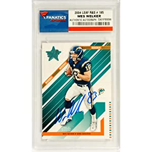 Wes Welker San Diego Chargers Autographed 2004 Leaf R&S #185 Rookie Card -... by Sports Memorabilia