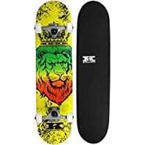 Krown Zion Lion Rookie Complete Skateboard, 7.5 x 31