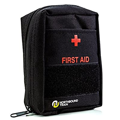 First Aid Kit for First Aid, Car kit, Survival Kit, Bug Out Bag, and Hiking, Travel, Backpacking. Fully Stocked for an Emergency. from Northbound Train
