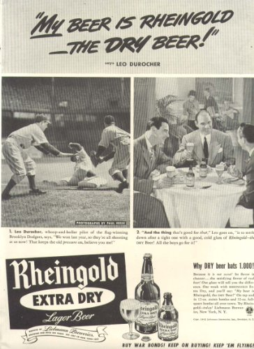dodgers-leo-durocher-rheingold-extra-dry-beer-ad-1942