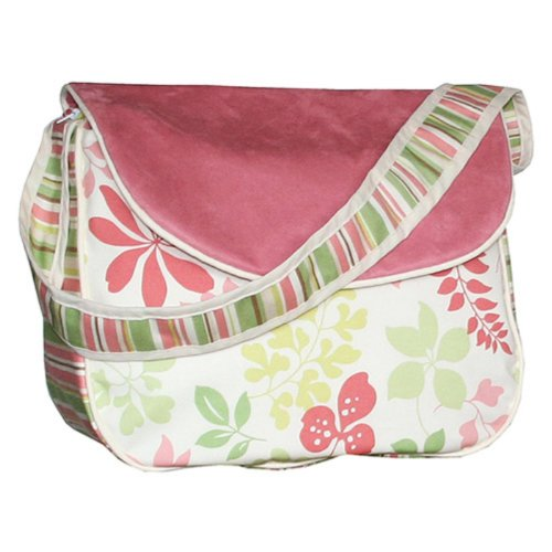 Hoohobbers Messenger Diaper Bag, Leaves