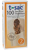 Tea Filter Bags, Disposable Tea Infuser, Size 2, Set of 100 Filters