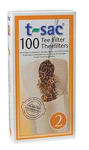 Buy Tea Filter Bags, Disposable Tea Infuser, Size 2, Set of 200 Filters - 2 Boxes - from Magic Teafi...