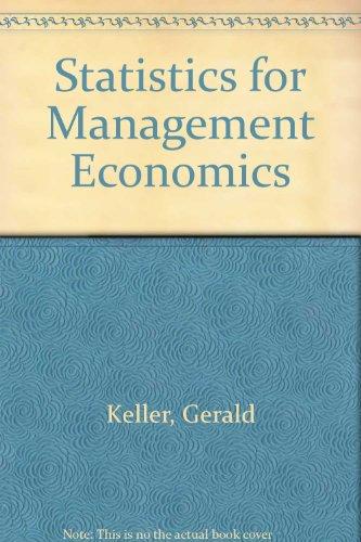 Statistics for Management Economics