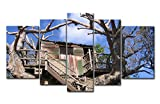 5 Panel Wall Art Painting Disney Disneyland Disneyland Island Treehouse Pictures Prints On Canvas Landscape The Picture Decor Oil For Home Modern Decoration Print