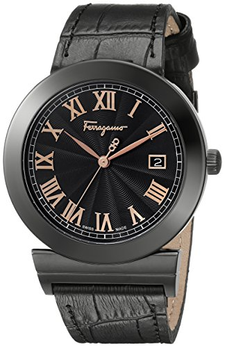 Salvatore-Ferragamo-Mens-F71LBQ6809-S009-Grande-Maison-Stainless-Steel-Watch-with-Leather-Band