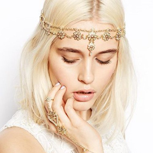 JoJo & Lin Pearl Beaded Hairband Headband Head Chain Hair Jewelry Wedding Hair Accessories Head Jewelry