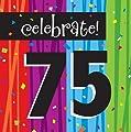 Creative Converting Milestone Celebrations Luncheon Napkins, 16-Count, Celebrate 75