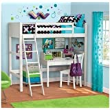 Your Zone Twin Wood Loft Style Bunk Bed