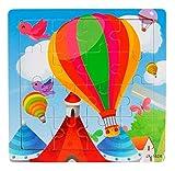 Ularma Madera de los cabritos 16 pieza rompecabezas juguetes para la educaci�n de los ni�os y Puzzles juguetes de aprendizaje (multicolor1)