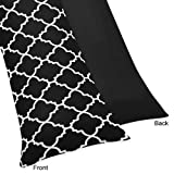 Black and White Trellis Full Length Double Zippered Body Pillow Case Cover by Sweet Jojo Designs