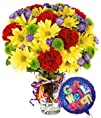 Best Wishes Bouquet with Get Well Balloon  Flowers