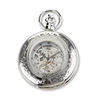 Charles Hubert Chrome Finish Brass Window Cover Pocket Watch
