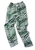 Zubaz Pants: Green/White Zubaz Zebra Pants
