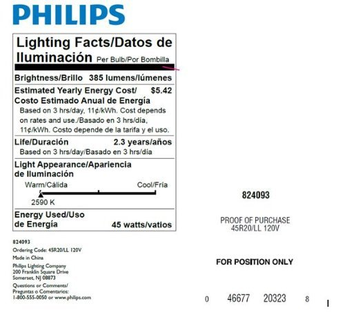 Philips 223115 Soft White 45-Watt R20 Indoor Flood Light Bulb, 12-Pack (Indoor Flood Light Bulbs compare prices)