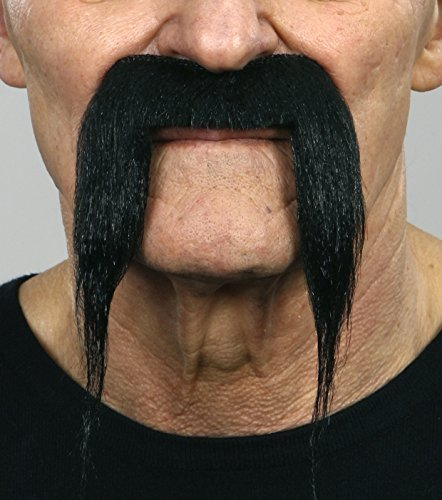 Black Fu Manchu moustache
