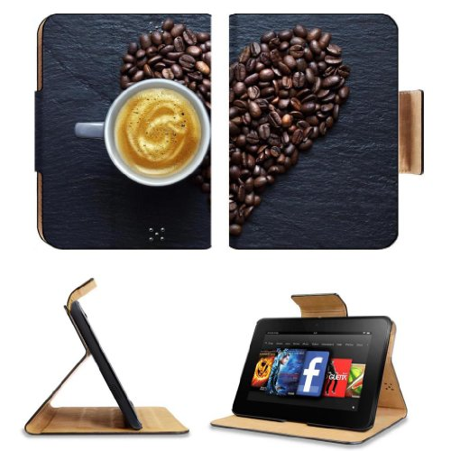 Review:  Love Coffee Beans Hearts Hot Coffee Amazon Kindle Fire HD 7 [2012 Version Only September 14, 2012] Flip Case Stand Magnetic Cover Open Ports Customized Made to Order Support Ready Premium Deluxe Pu Leather 7 11/16 Inch (195mm) X 5 11/16 Inch (145mm) X 11/16 Inch (17mm) MSD Professional Kindle_fire Cases Kindle7 Accessories Build Model Graphic Background Covers Designed Model Folio Sleeve HD Template Designed Wallpaper Photo Jacket Luxury Protector