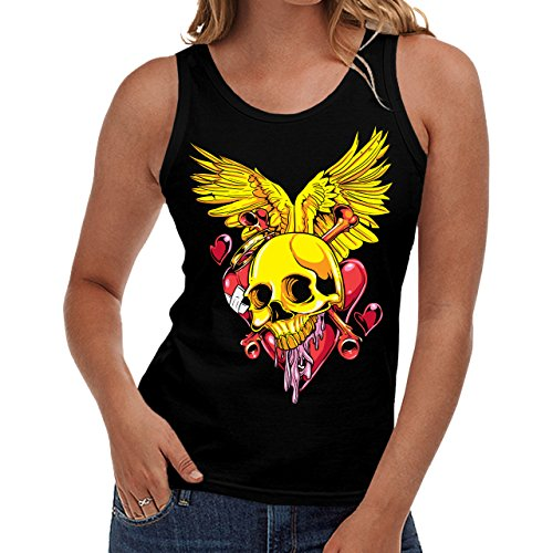 Wellcoda | Monster In Love Heaven Bite Womens NEW Tank Top Black S-2XL