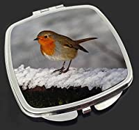 Robin on Snow Wall Make-Up Compact Mirror Christmas Gift from Advanta Products