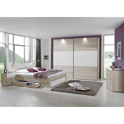Schlafzimmer Set »YONIE166« San Remo-Eiche, weiß günstig kaufen