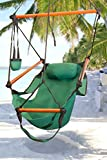 Best Choice Products® New Deluxe Green Sky Air Chair Swing Hanging Hammock Chair W/ Pillow & Drink Holder