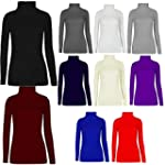Women's Ladie's Long Sleeve Plain Pol...