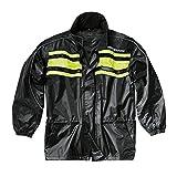 Hein Gericke Blizzard Regenjacke schwarz-gelb L - Motorrad Regenbekleidung