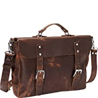 "Vagabond Traveler 17"" Cowhide Casual Leather Messenger Bag L52"