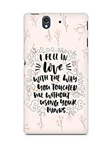 Amez I fell in Love with You Back Cover For Sony Xperia Z
