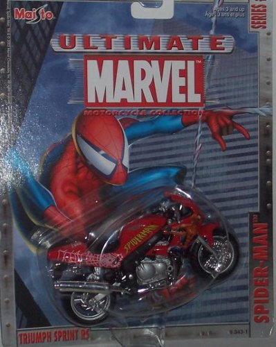 Ultimate Marvel Motorcycle collection Spider-man Triumph Sprint RS - 1