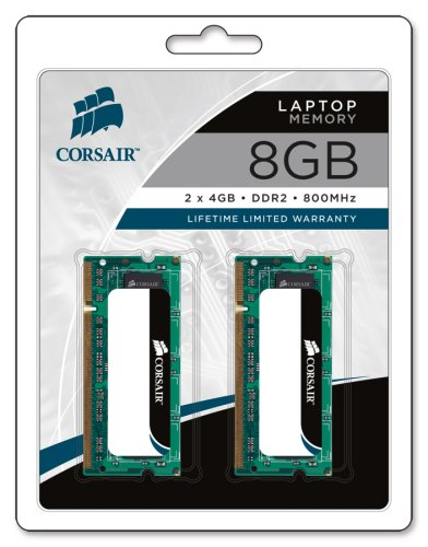 Corsair VS8GSDSKIT800D2 8GB (2 x 4GB) Value Select Memory