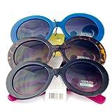 Designer Oversized High Fashion Sunglasses w/ Baroque Swirl Arms