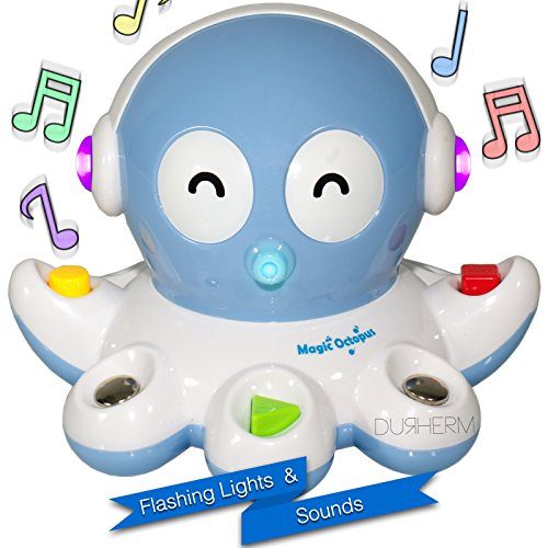 DURHERM Magic Octopus Make Music Interaction Cute Toy Gift w/ Lights 15 Songs for Kids Children - 1