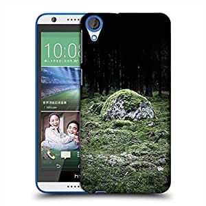 Snoogg Green Grass In Stone Designer Protective Phone Back Case Cover For HTC Desire 820