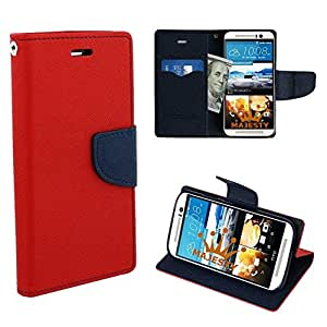 Majesty Wallet Style Flip Cover for HTC Desire 626 - Red