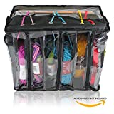 Premium Knitting Bag - Stylish, Durable & Portable Yarn Storage Organizer for Knitting Supplies at Home & on the Go (Black Tote Style)