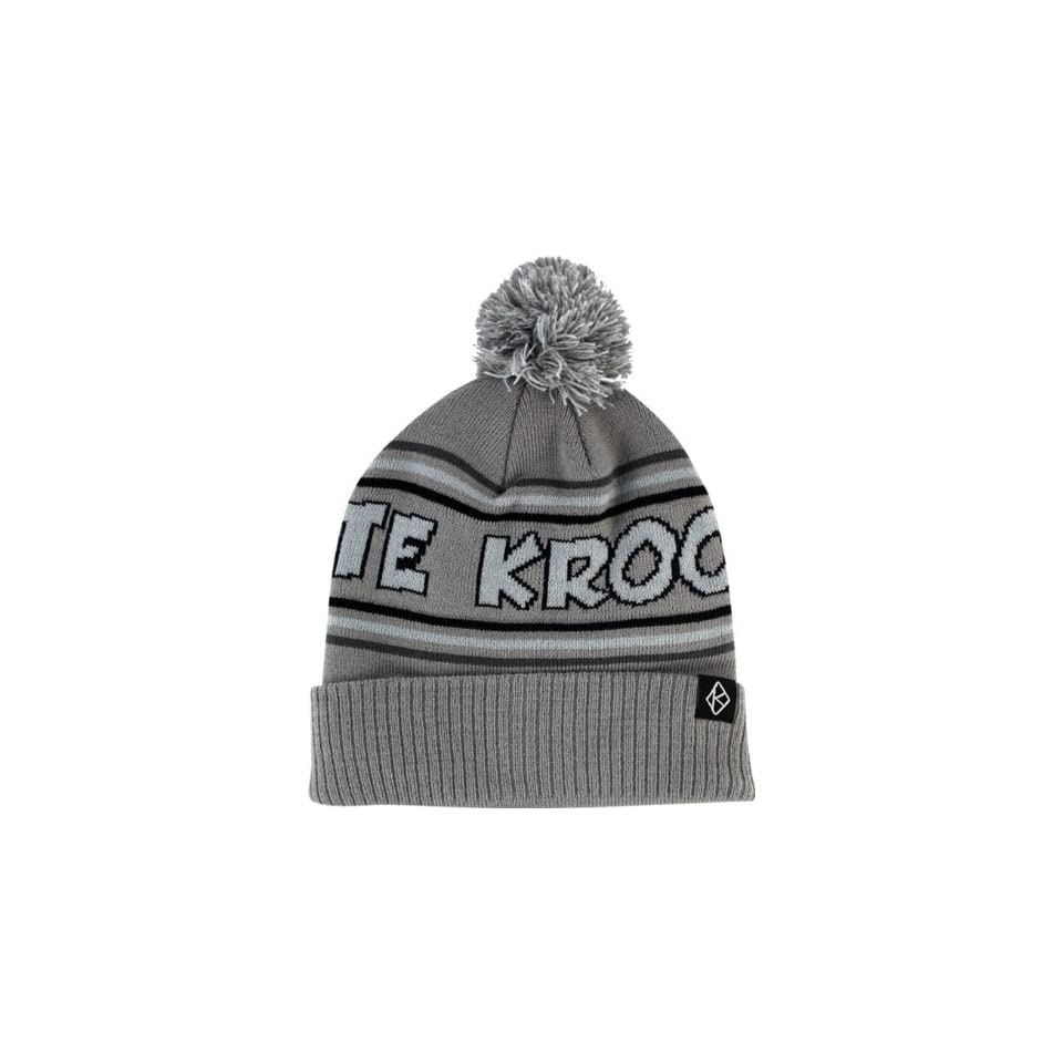 fea3c3d5fd52d Krooked Skate Pom Beanie Grey on PopScreen