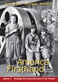 9780312656416: America Firsthand, Volume Two: Readings from Reconstruction to the Present
