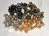レザークラフト ギボシ 頭径4.5mm/5mm/7mm 金・銀・黒・古銅 40個セット (3)