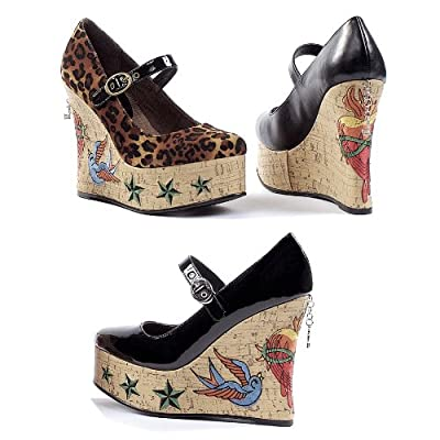 vegan rockabilly cork wedges